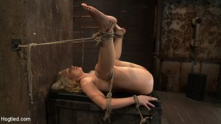 Candy Manson Straight California blond with huge tits has them bound to her knees & spreadMade to squirt & scream!