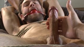 Abel Archer Bdsm Hot bi hunk's first time being bound and edged