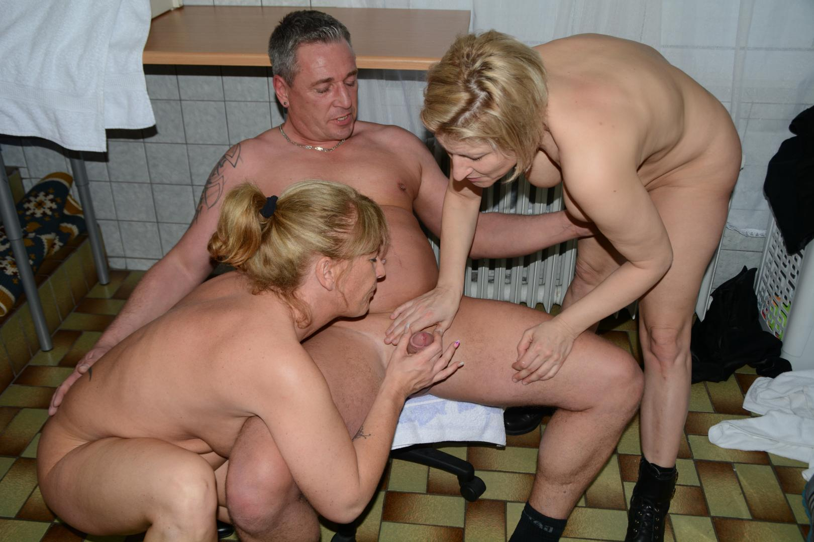 Mature Blonde Wife Threesome