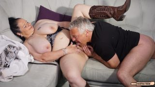 Abby Titts Cheating Housewife Cum on tits for busty mature BBW in German amateur fuck